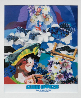 Cloud Dancer, Collage inspired by painting in the Yukon