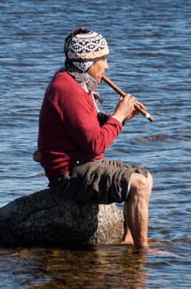 Don Martin Playing his Flute in the Water