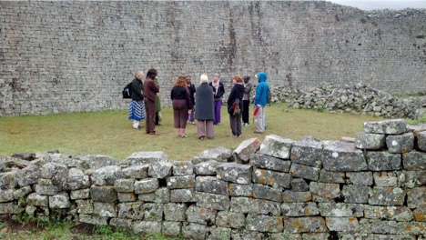 Closing Prayer Circle at the Ruins