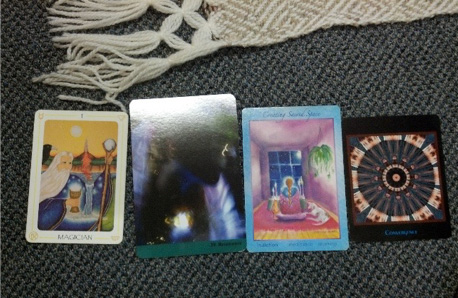 My Tarot Cards for the workshop