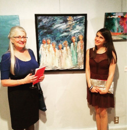 Janet & daughter, Jessica with Held, Oil on Canvas, for Brushes with Cancer, Toronto, 2015